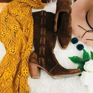 🍂Vía Spiga Brown-leather boots 7.5